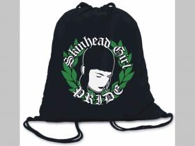 Skinhead girl Pride ľahké sťahovacie vrecko ( batôžtek / vak ) s čiernou šnúrkou, 100% bavlna 100 g/m2, rozmery cca. 37 x 41 cm