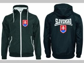 Slovakia - Slovensko  šuštiaková bunda čierna materiál povrch:100% nylon, podšívka: 100% polyester, pohodlná,vode a vetru odolná