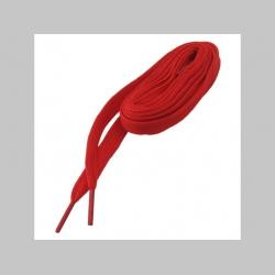 červené šnúrky do topánok, ploché  dĺžka 114cm