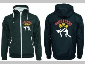 Taekwondo šuštiaková bunda čierna materiál povrch:100% nylon, podšívka: 100% polyester, pohodlná,vode a vetru odolná