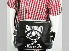 """Skinhead a Way of Life kožená taška cez plece cez plece  rozmery pri plnom obsahu 36x24x12cm """"UNISEX""""(pánska aj dámska)"""