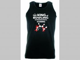 King of Bowling čierne tielko 100%bavlna značka Fruit of The Loom