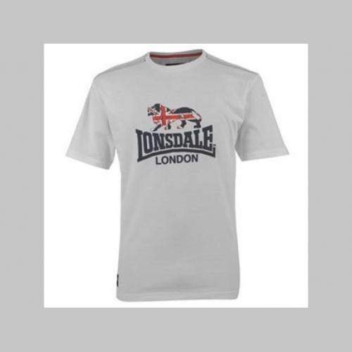 a88441cc9dca Lonsdale pánske tričko biele s tlačeným logom