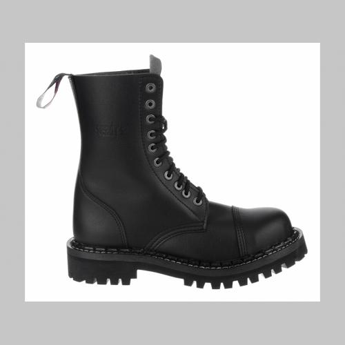 bf6cb46dbfee1 Steadys VEGAN Obuv, umelá koža, topánky 10 dierové čierne s prešívanou  oceľovou špičkou